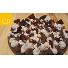 Tarte aux 2 chocolats et sablé breton en visio