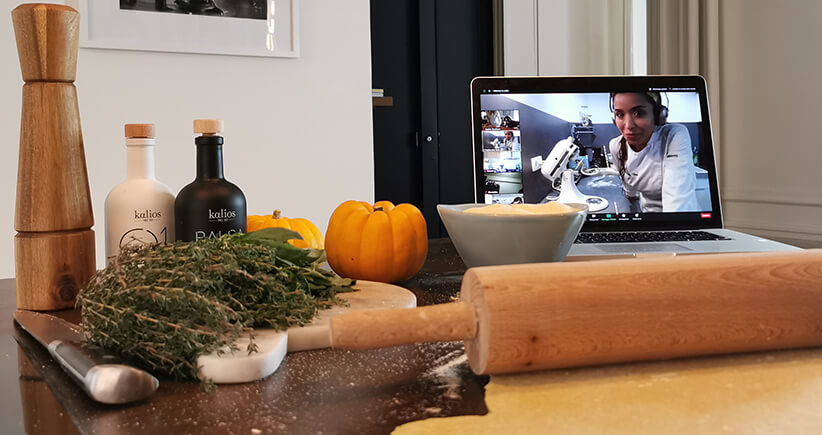 Suivre un cours de cuisine en visio